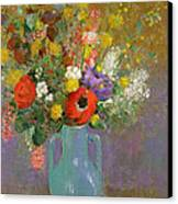 Bouquet Of Wild Flowers  Canvas Print by Odilon Redon