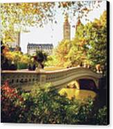 Bow Bridge - Autumn - Central Park Canvas Print