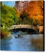 Bow Bridge Central Park Canvas Print by Amy Cicconi