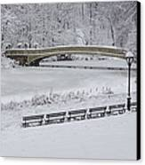 Bow Bridge Central Park Winter Wonderland Canvas Print