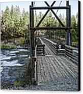 Bowl And Pitcher Bridge - Spokane Washington Canvas Print by Daniel Hagerman