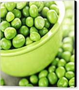 Bowl Of Green Peas Canvas Print by Elena Elisseeva