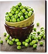 Bowl Of Peas Canvas Print by Elena Elisseeva