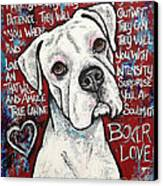 Boxer Love Canvas Print by Stephanie Gerace