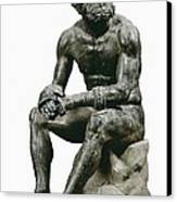 Boxer Seatted. 1st C. Hellenistic Art Canvas Print