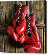 Boxing Gloves - Now Retired Canvas Print