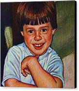 Boy In Blue Shirt Canvas Print