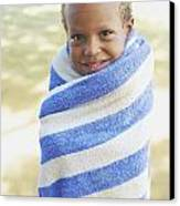 Boy In Towel Canvas Print by Kicka Witte