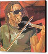 Boyd Tinsley At Red Rocks Canvas Print by Joshua Morton