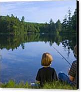 Boys Fishing Canvas Print