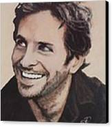 Bradley Cooper Canvas Print by Shirl Theis