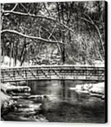 Brainards Bridge After A Snow Storm 3 Canvas Print