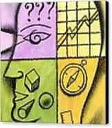 Brainstorming Canvas Print by Leon Zernitsky