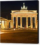 Brandenburg Gate Panoramic Canvas Print by Melanie Viola