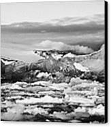 brash sea pack ice forming together with dirty blue iceberg as winter approaches cierva cove Antarct Canvas Print by Joe Fox