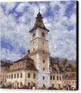 Brasov City Hall Canvas Print by Jeff Kolker