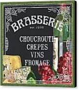 Brasserie Paris Canvas Print by Debbie DeWitt