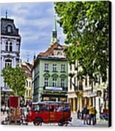 Bratislava Town Square Canvas Print by Jon Berghoff