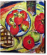 Bread Tomato And Apples Canvas Print by Vladimir Kezerashvili