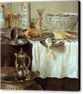 Breakfast Still Life Canvas Print by Willem Claesz Heda