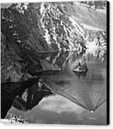 Breaking Water Through The Mountains Canvas Print