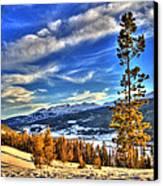 Breckenridge Skies Canvas Print by Scott Mahon