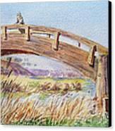 Breezy Day At The Marina Canvas Print by Irina Sztukowski