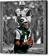 Brett Favre Jets Canvas Print