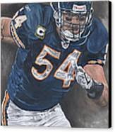 Brian Urlacher Seek And Destroy Canvas Print by David Courson