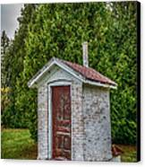 Brick Outhouse Canvas Print