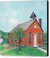 Bricktown School Canvas Print by Mary Armstrong