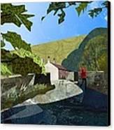 Bridge At Froggatt Canvas Print by Kenneth North