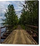 Bridge By The Lake Canvas Print by Jason Brow