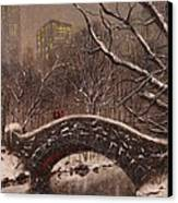 Bridge In Central Park Canvas Print