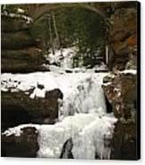 Bridge Over Frozen Water Canvas Print
