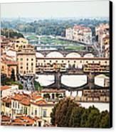 Bridges Of Florence Canvas Print by Susan Schmitz