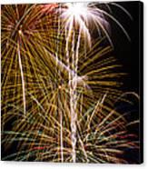 Bright Bursts Of Fireworks Canvas Print
