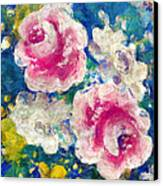 Brightly Floral Canvas Print by Susan Leggett