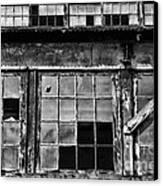Broken Windows In Black And White Canvas Print by Paul Ward