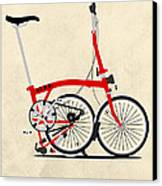 Brompton Bike Canvas Print by Andy Scullion