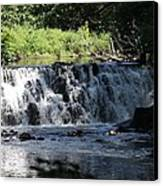 Bronx River Waterfall Canvas Print by John Telfer