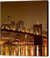 Brooklyn Bridge And Downtown Manhattan Canvas Print by Val Black Russian Tourchin