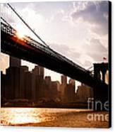 Brooklyn Bridge And Skyline Manhattan New York City Canvas Print