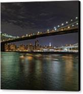 Broooklyn Bridhe At Night Canvas Print