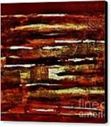Brown Red And Golds Abstract Canvas Print