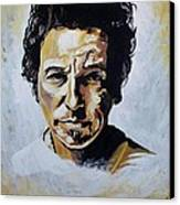 Bruce Springsteen Canvas Print by Jeremy Moore