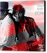 Bruce Springsteen Canvas Print by Marvin Blaine