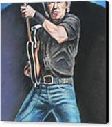 Bruce Springsteen  Canvas Print by Melinda Saminski