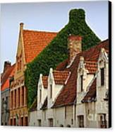 Bruges Rooftops Canvas Print by Carol Groenen