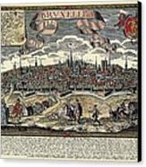 Brussels In 17th C. Engraving. � Canvas Print